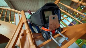 wooden stairs stairclimber