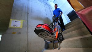 site stairclimber delivery